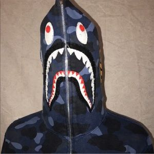 Bape color camo shark full zip hoodie!